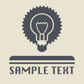 Light bulb icon or sign abstract illustration Royalty Free Stock Image