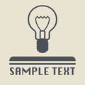 Light bulb icon or sign abstract illustration Royalty Free Stock Photos