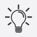 Light bulb icon in white background. Idea flat vector illustrati