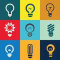 Light bulb icons set Royalty Free Stock Photo