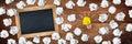 Light bulb idea blackboard concept Royalty Free Stock Photo