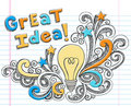 Light Bulb Idea Hand-Drawn Sketchy Doodles Royalty Free Stock Photo
