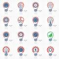 Light bulb idea icons set. Royalty Free Stock Photo