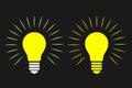 Light Bulb, Idea, thinking, Concept. Vector illustration