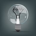 Light bulb idea vector Royalty Free Stock Photography
