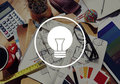 Light Bulb Ideas Inspiration VIsion Innovation Power Concept Royalty Free Stock Photo