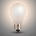 Light bulb illuminated Royalty Free Stock Images