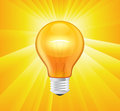 Light Bulb illustration Royalty Free Stock Photos