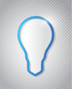Light bulb infographic illustration design over a lines pattern Stock Photo