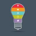 Light Bulb Infographics Concept