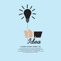 Light bulb inspiration hand holding concept eps Stock Photography