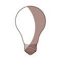 Light bulb isolated icon