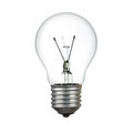 Light bulb isolated over white with clipping path Stock Photography