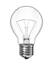 Light bulb isolated on white background d render Royalty Free Stock Images