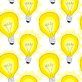 Light Bulb Lamps seamless pattern background