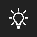 Light bulb line icon vector. Electric lamp in flat style. Idea sign, solution, thinking concept