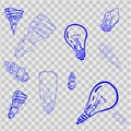 Light Bulb line icon vector, isolated on white background. Idea sign, solution, thinking concept. Lighting Electric lamp. Electric Royalty Free Stock Photo
