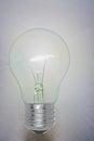 Light bulb shining on the white background Royalty Free Stock Image