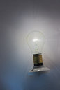 Light bulb shining Royalty Free Stock Photo