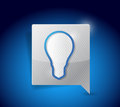 Light bulb symbol pointer illustration design over a blue background Royalty Free Stock Images
