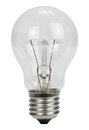 Light bulb on a white background Royalty Free Stock Photo