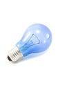 Light Bulb On White Background.