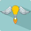 Light Bulb with Wings