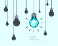 Light Bulbs Background. Industrial Science Idea concept vector illustration Royalty Free Stock Photo
