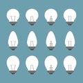 Light bulbs and Bulb icon set Royalty Free Stock Photo