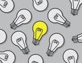 Light Bulbs One On