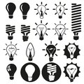 Light bulbs vector bulb icon set Royalty Free Stock Photo