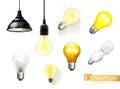 Light bulbs, vector icons