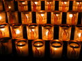 Light candles notre dame in france paris Stock Photography
