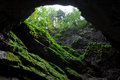 Light in cave entrance Royalty Free Stock Photo