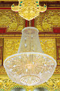 Light on ceiling beautiful lamp or in of the building Royalty Free Stock Image