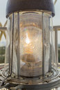 Light closeup, Twillingate lighthouse Royalty Free Stock Photo