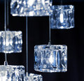 Light closeup view of contemporary fixture Royalty Free Stock Image