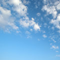 Light clouds in the blue sky Royalty Free Stock Photos