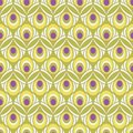 Light Colored Ornamental Peacock Feather Seamless Pattern