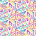 Light colorful sketch triangles seamless pattern