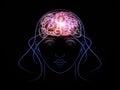 Light of consciousness Royalty Free Stock Photo