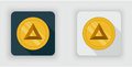 Light and dark Basic Attention Token crypto currency icon