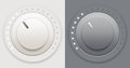 Light and dark volume knobs vector illustration of two plastic knob Stock Image