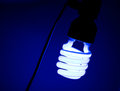 Light of dirty bulb with dark blue  still life Royalty Free Stock Photo