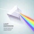 Light dispersion illustration