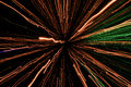Light display, colored laser, Infinity light tunnel Royalty Free Stock Photo