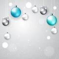 Light elegant Christmas background Royalty Free Stock Photo