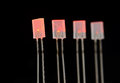 Light emitting diodes turned on Stock Image
