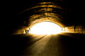 Light at end of tunnel. Royalty Free Stock Photo
