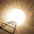 Light at the end of the tunnel concept Royalty Free Stock Images